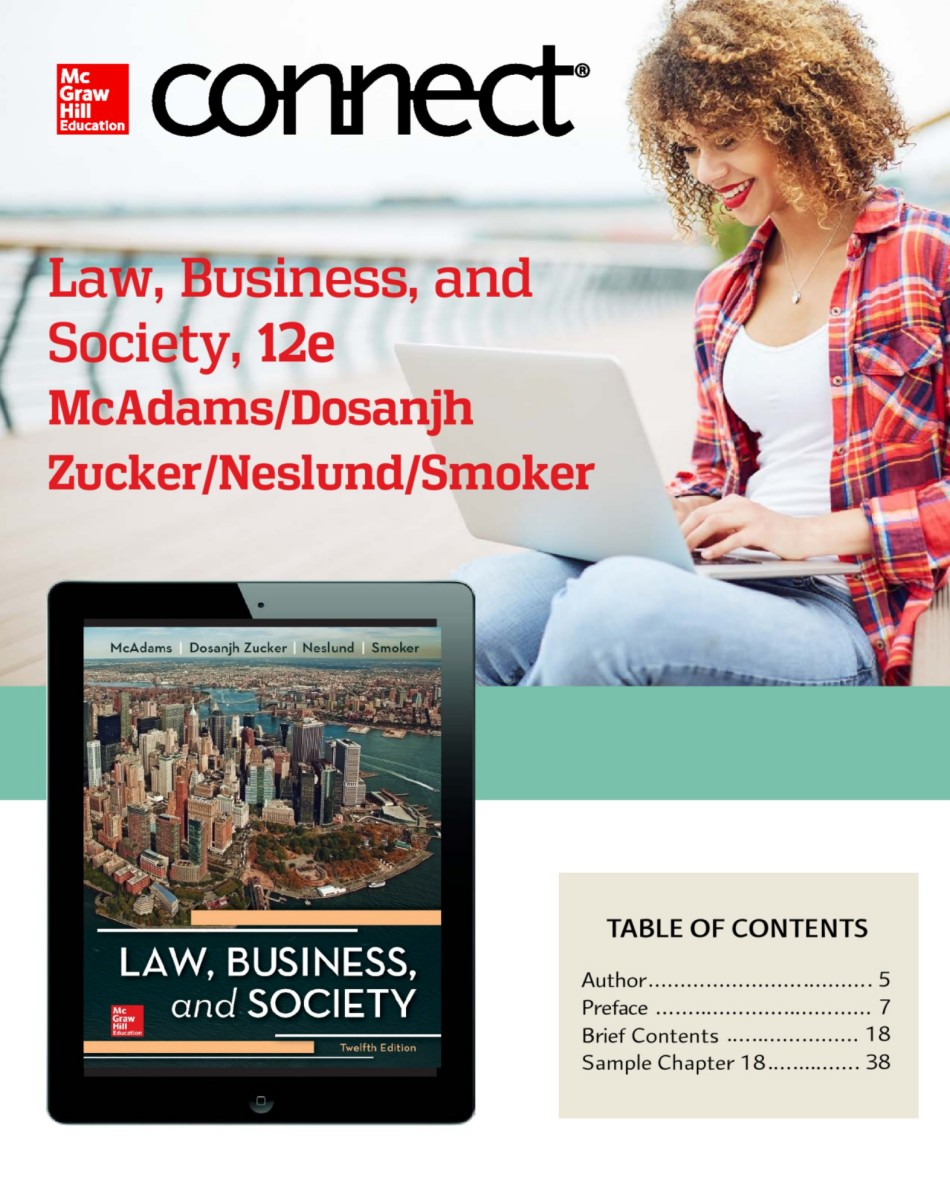 McAdams Law, Business, and Society 12e